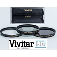 3-Pc Pro Quality UV Polarizer & FLD Filter Kit For Sony FDR-AX33
