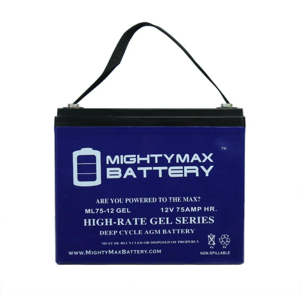 12V 75AH GEL Battery Replacement for Stevens Wheelchair