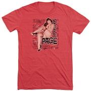 Bettie Page Retro Hot Mens Tri-Blend Short Sleeve Shirt