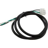 Blower Cord, H-Q, 16/3 x 48, White AMP-4 Male (B/W/G)