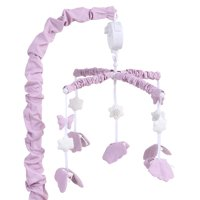 Lilac Purple Butterfly Baby Crib Musical Mobile by The Peanut Shell