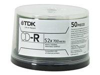 TDK 48944 Cd-R Bulk 80 Min 52X White Spindle by TDK