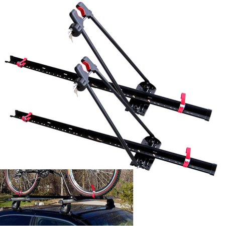 Swagman  Locking Upright Stainless Steel Roof Rack (Pack of 2) Black