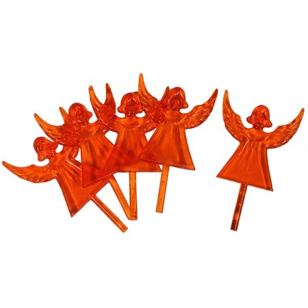 Plastic Angel Ceramic Christmas Tree Topper, Cake Topper Craft Ornaments 2.5 Inches Tall, Orange, 10 Pack, Finish off that ceramic Christmas.., By Creative Hobbies Ship from US