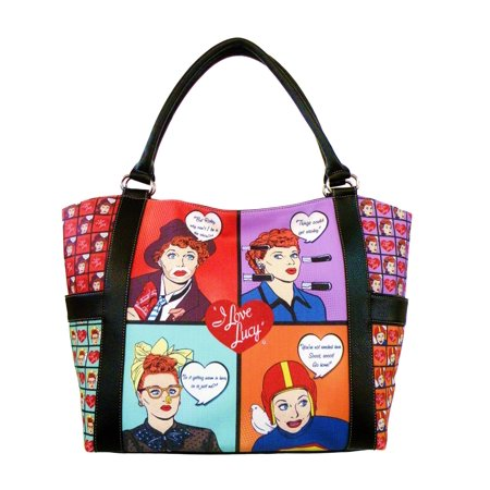 - AFONiE - I Love Lucy Signature Faux leather Tote Handbag