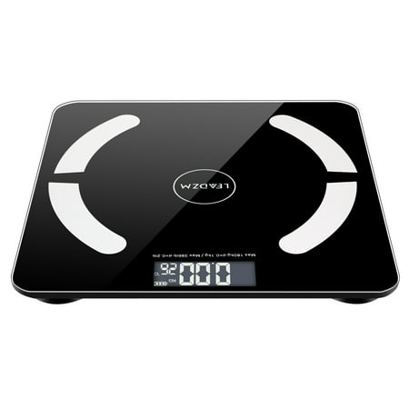 Upgraded 2019 Bluetooth Body Fat Scale, Smart Scale Wireless Bathroom Auto Recognition Body Composition Analyzer for Fat, BMI, BMR, Muscle Mass, S00192