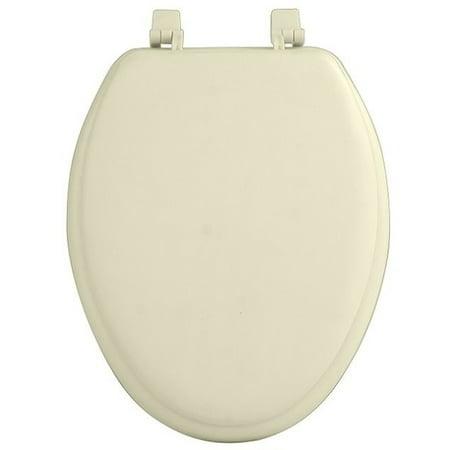 Traditional Elegance Elite 19 Inch Soft Elongated Vinyl Toilet Seat - Bone