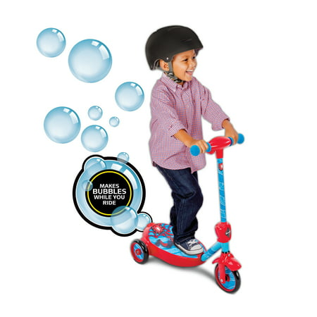 Marvel Spider-Man Boys' 6V Battery-Powered Bubble Scooter by