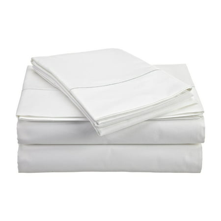 800 Collection (CHATEAU HOME COLLECTION 800-Thread-Count Egyptian Cotton Deep Pocket Sateen Weave King Sheet Set, White )
