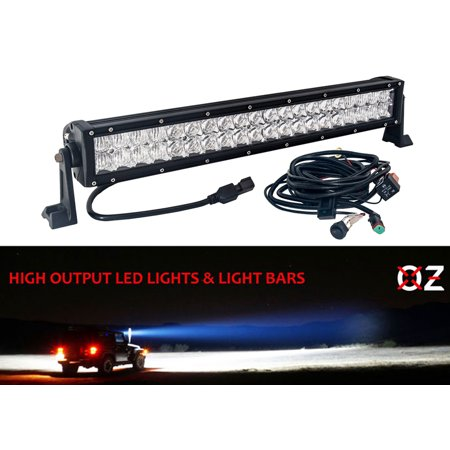 20 inch 4d series led light bar wire harness spot flood beam combo off road  4x4 4wd race truck suv atv 12 volts - walmart com