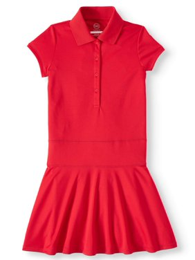 Wonder Nation Girls 4-16 School Uniform Performance Polo Dress