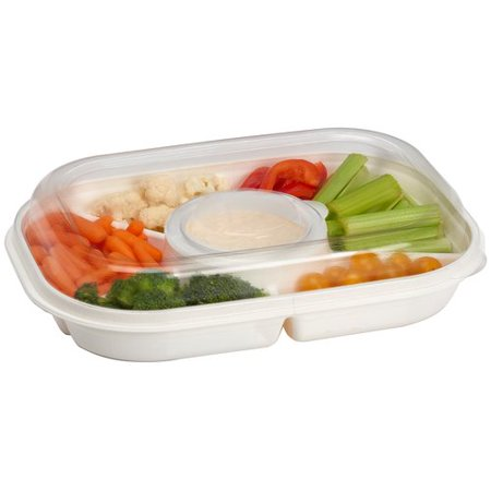 Rebrilliant Extra Large Party Divided Serving - Heated Serving Dish
