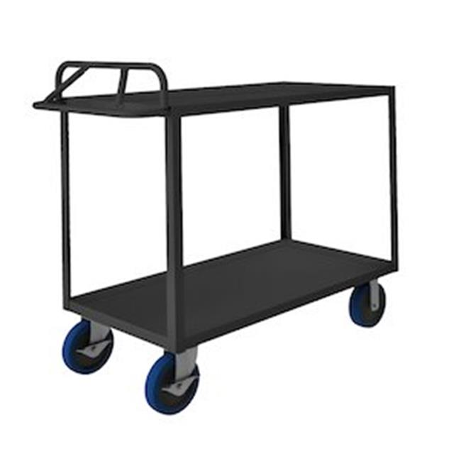 Durham RSCE-2436-2-3.6K-8PUSB-95 48 in. Rolling Service Cart, Gray - 3600 lbs