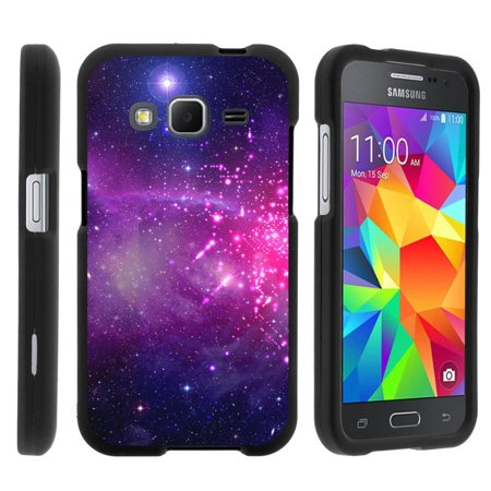 Samsung Galaxy Core Prime G360, [SNAP SHELL][Matte Black] 2 Piece Snap On Rubberized Hard Plastic Cell Phone Cover with Cool Designs - Heavenly