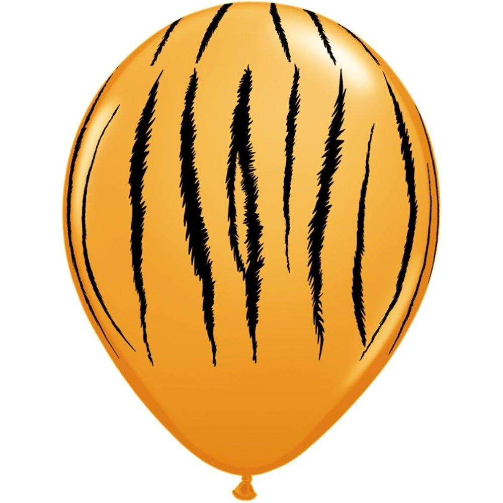 "LA Balloons 55474 ""Tiger Stripes"" Qualatex Latex Balloons (50 Pack), 11"", Orange"