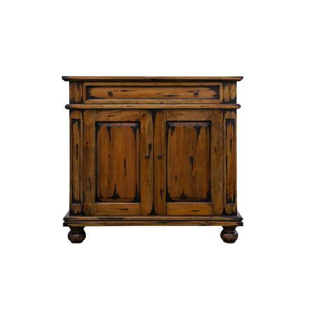 Nes Furniture Fine Handcrafted Solid Mahogany Wood Ontario Cabinet Sideboard Buffet 36 Inches
