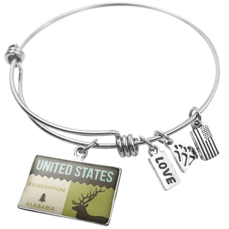 Expandable Wire Bangle Bracelet National Us Forest United States Reservation   Neonblond