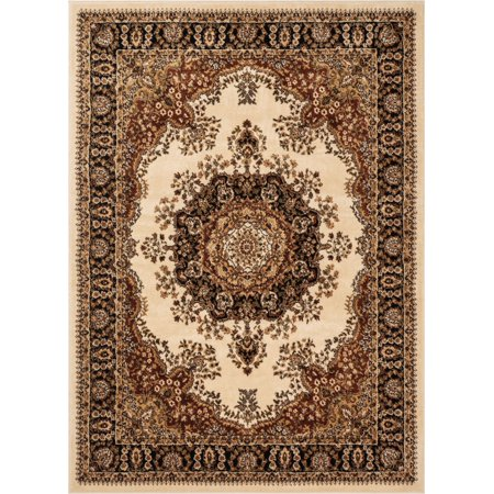 Mahal Persian Rug - Well Woven Aurora Mahal Traditional Oriental Medallion Persian Ivory 7'10