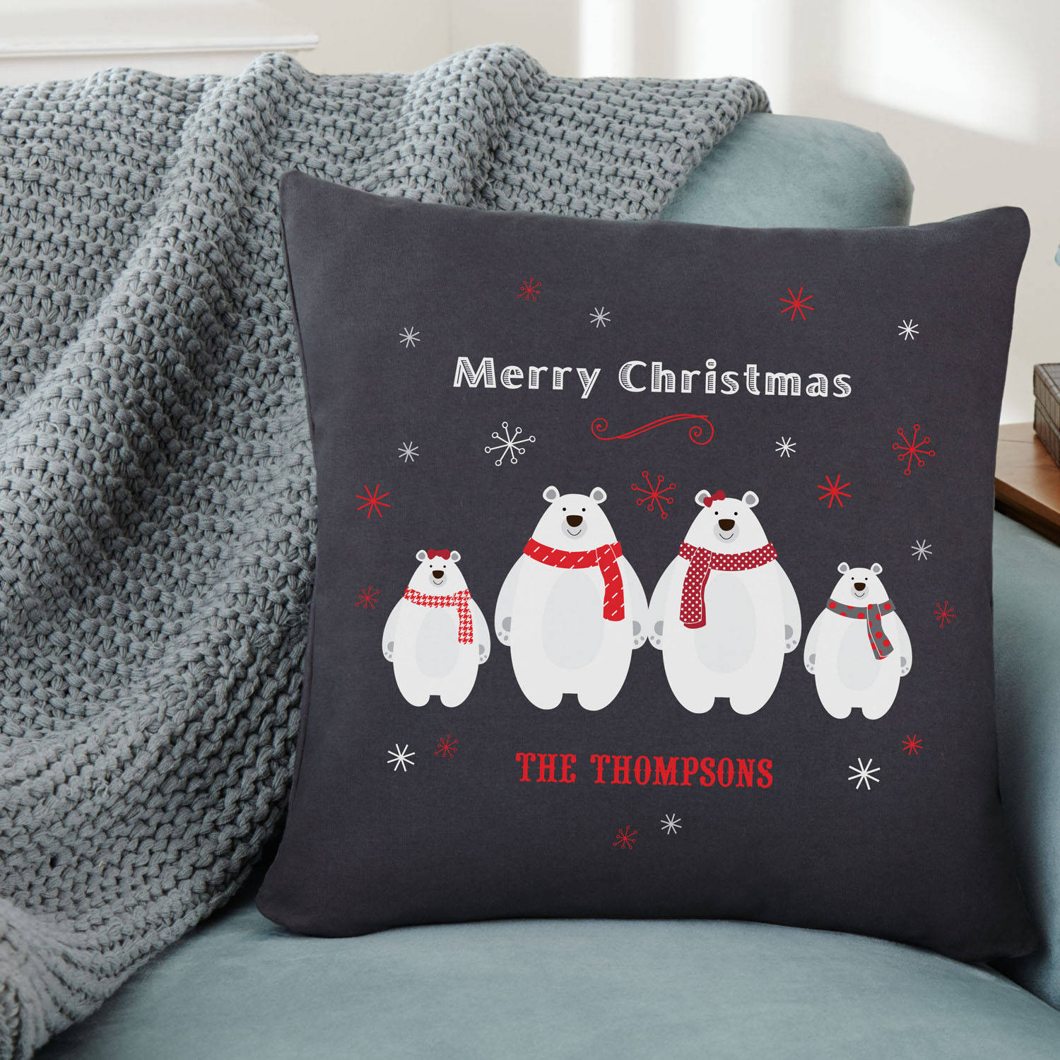 Personalized Pudgy Polar Bear Pillow