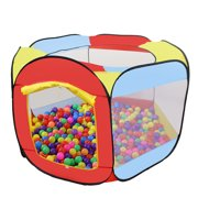 Tents for Kids, Folding Portable Playpen Kids Play Tent, Baby Play Yard Tent for Girls Boys, Birthday Gift Outdoor Indoor 6-Sided Ball Pit for Kids Toddlers and Baby