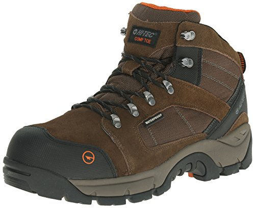 Hi-Tec Men's Borah Pro Mid I WP Comp Toe Workboot, Chocolate, 10.5 M US by Hi-Tec