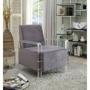 Liam Black Velvet Accent Chair
