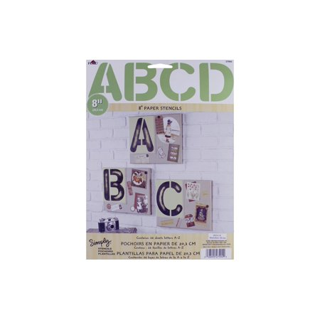 "Plaid Simply Stencil Paper Alphabet Chunky 8"" - image 1 of 1"
