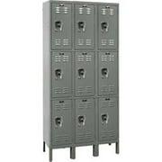 Hallowell URB3228-3A-HG Hallowell ReadyBuilt Locker, 36 in. W x 12 in. D x 78 in. H,