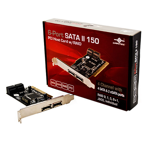 Vantec 6-Port SATA II 150 PCI Host Card with RAID