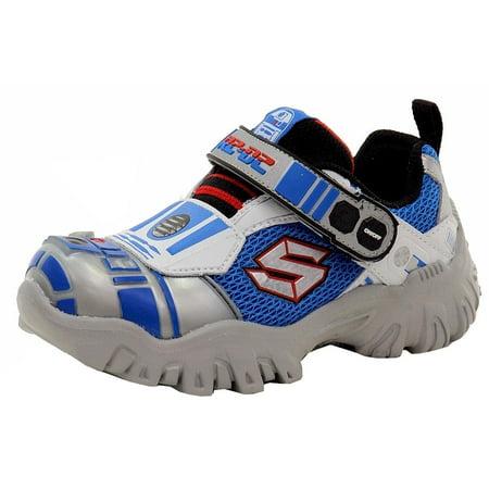 Skechers Boy's Damager III Astromech R2 D2 SilverBlue Sneakers Shoes