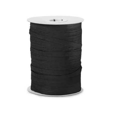 Paper Black gift packaging Raffia Ribbon