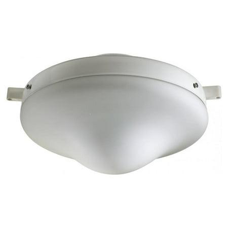 One Light White Satin Opal Glass Fan Light Kit