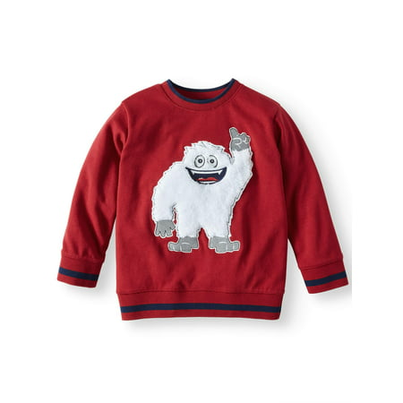 365 Kids From Garanimals French Terry Sweatshirt with 3D Graphic and Elbow Patches (Little Boys & Big Boys) (Boutique Clothing Kids)