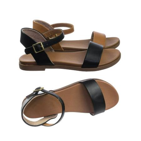 Meadow by Soda, Super Comfortable Flexible Soft Rubber Padded Insole Women's Flat Sandal