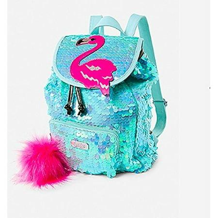 justice flamingo flip sequin mini rucksack backpack
