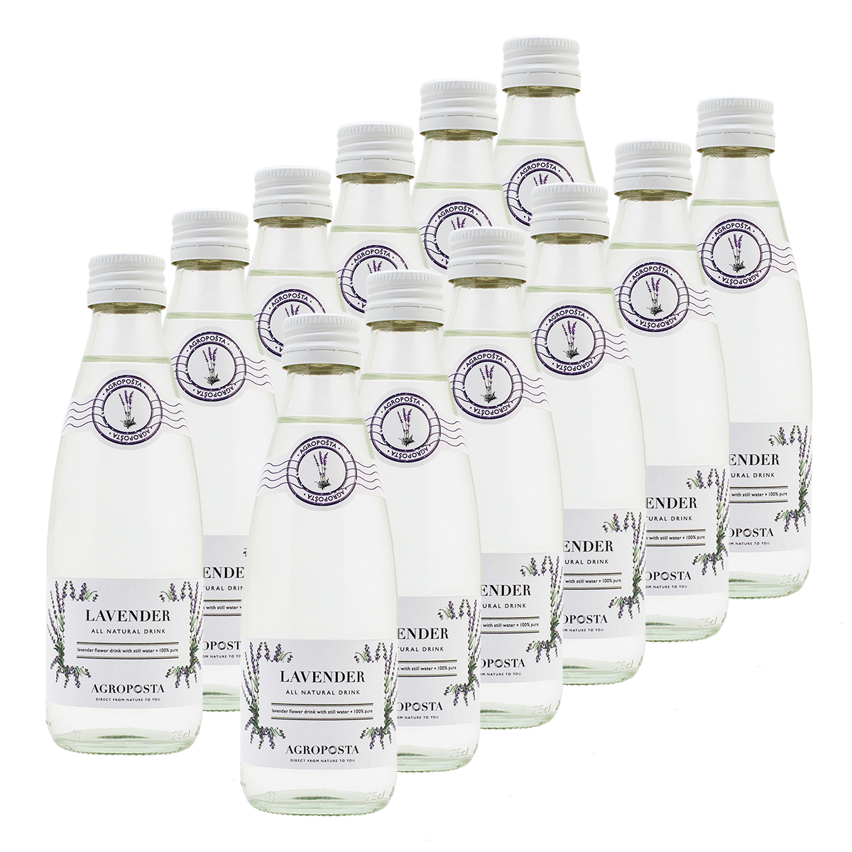Image of AgropoÅ!ta: 100% Pure, All-Natural, Guilt-Free Drinks, Flavored Water, Lavender