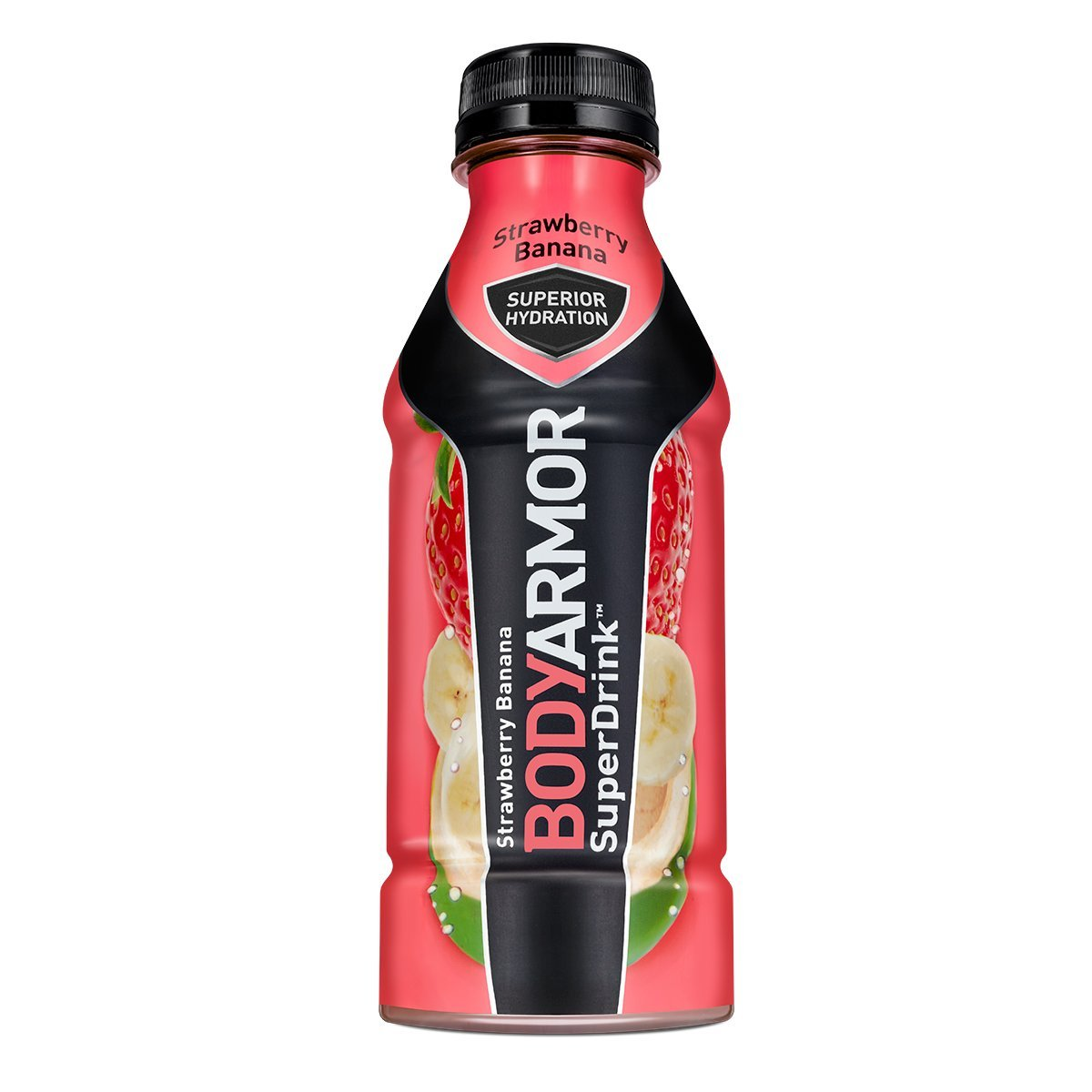 BodyArmor SuperDrink, Electrolyte Sport Drink, Strawberry Banana 16 Oz (Pack of 24)