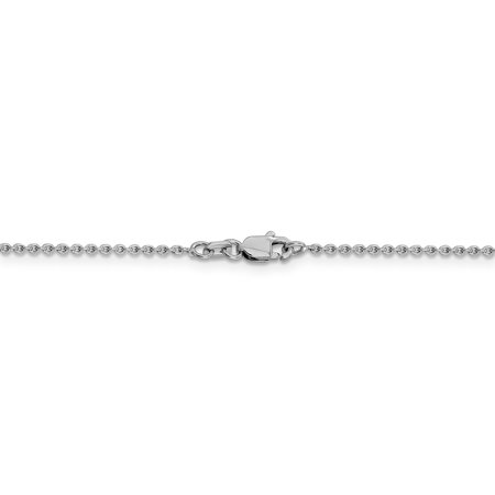 14k White Gold 1.40mm Solid Link Cable Chain Necklace 16 Inch Pendant Charm Fine Jewelry Gifts For Women For Her - image 1 de 9