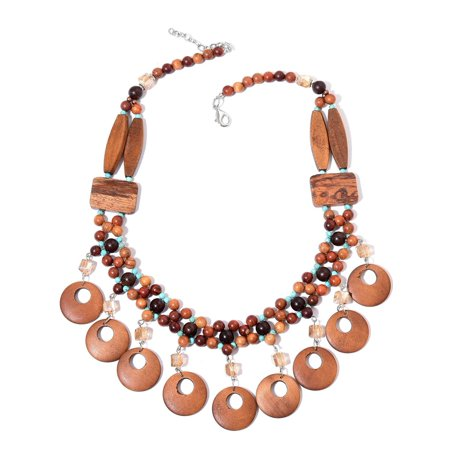 Shop LC Wooden Silvertone Collar Necklace for Women 25