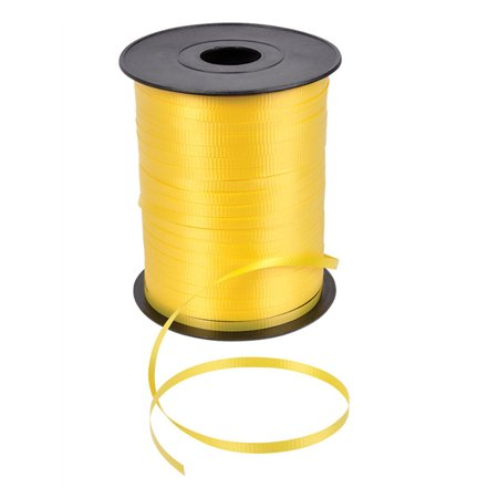 500 yard roll shiny yellow balloon present wrapping curling - Present Ribbon