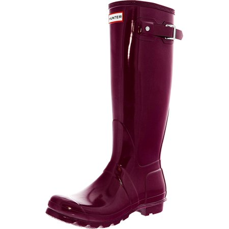 Hunter Women's Original Tall Gloss Violet Knee-High Rubber Rain Boot - 6M -  Walmart.com