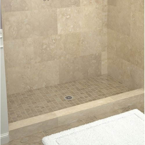 Tile Redi Single Threshold Shower Base with Drain Plate