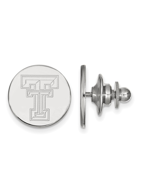 Texas Tech University Red Raiders Lapel Pin in Sterling Silver 3.01 gr