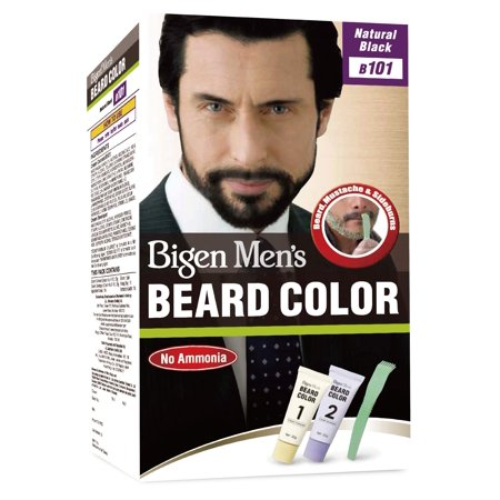 Bigen Men's Beard Color, Natural Black B101, 40g (Bigen Mens Beard Colour Natural Black B101)