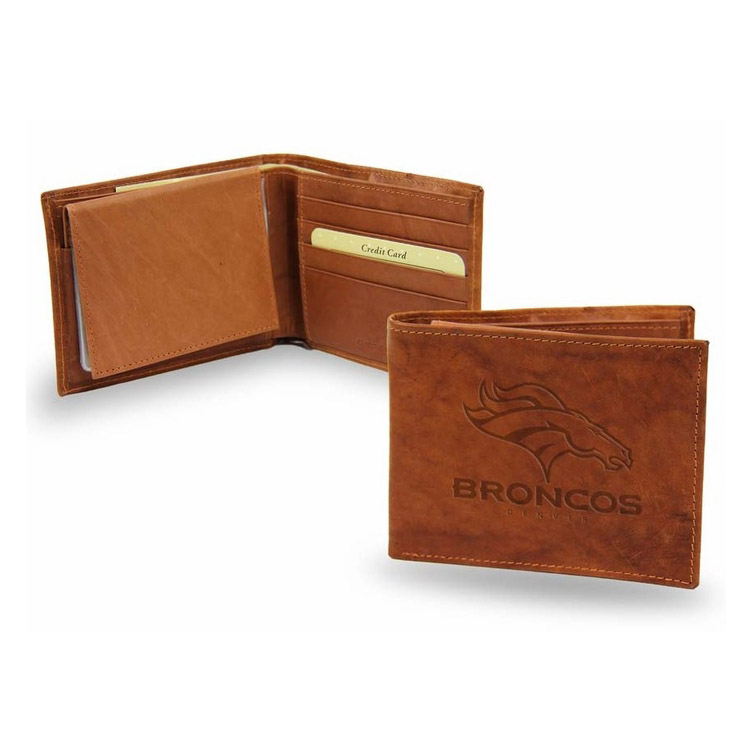 Denver Broncos Official NFL One Size Leather Billfold Wallet by Rico Industries