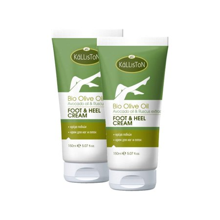 Body Foot Cream (Kalliston | Organic Olive Oil with Avocado Oil & Ruscus Extract Foot & Heel Cream | Hand & Body Cream | Made in Ancient Crete, Greece | 5.07 oz Each)