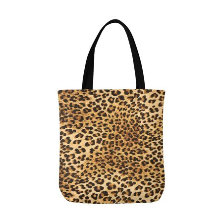 ASHLEIGH Leopard Skins Colorful Wild Print Unisex Canvas Tote Canvas Shoulder Bag Resuable Grocery Bags Shopping Bags for Women Men Kids - Leopard Print Canvas Tote