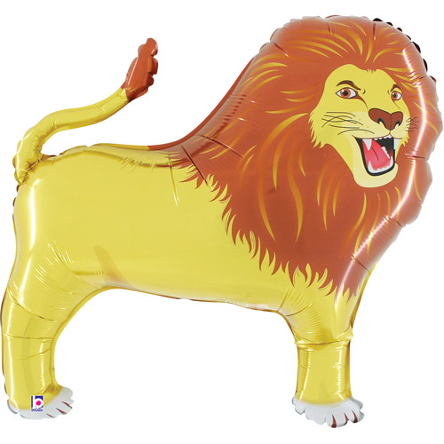 Lion-Shaped Mylar Balloon