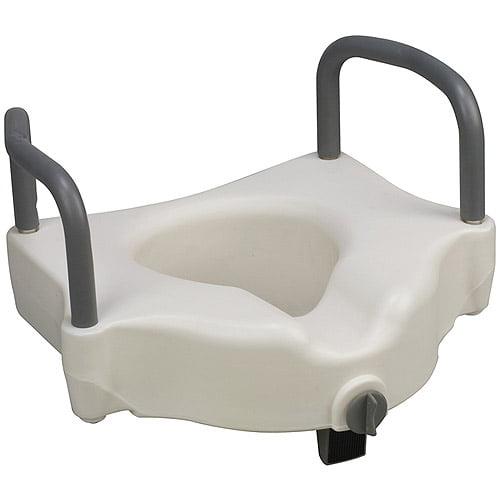 DMI 802-1511-1900 DMI Hi-Riser Locking Raised  Toilet Seat Riser with Arms