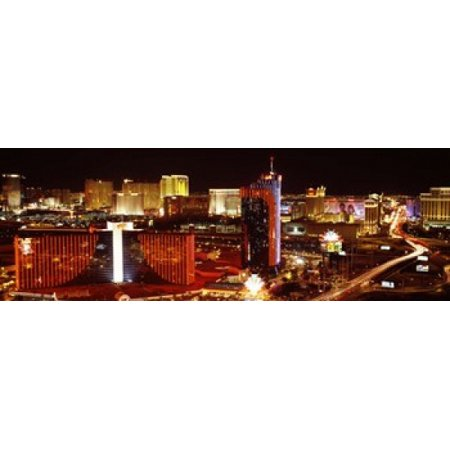 City lit up at night Las Vegas Nevada USA Poster Print](Halloween City Jobs Las Vegas)